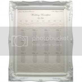 Large Ornate Whitecream Frame For Table Planner Display You