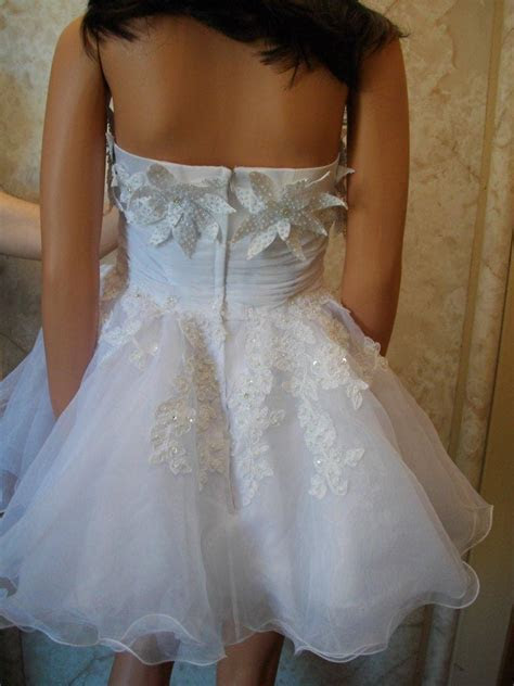 Baby doll wedding dress with flowers