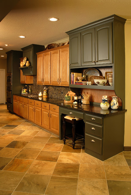Kitchen Floor Ideas With Oak Cabinets Home Christmas Decoration