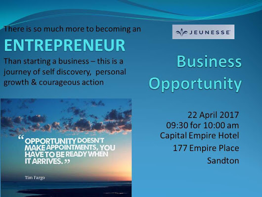 Business Opportunity – Johannesburg
