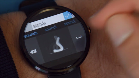 Microsoft's Android Wear keyboard lets you draw letters on your smartwatch