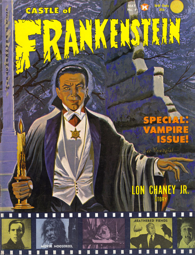 Castle Of Frankenstein, Issue 4 (1964) Cover Art by Lee Wanagiel