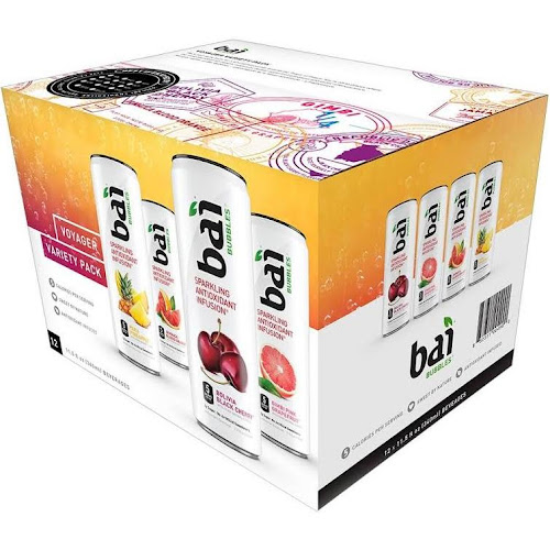 Bai Bubbles Antioxidant Infused Beverage, Variety Pack - 12 count, 11.5 fl oz cans