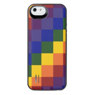 Checkered Rainbow iPhone SE/5/5S Battery Case