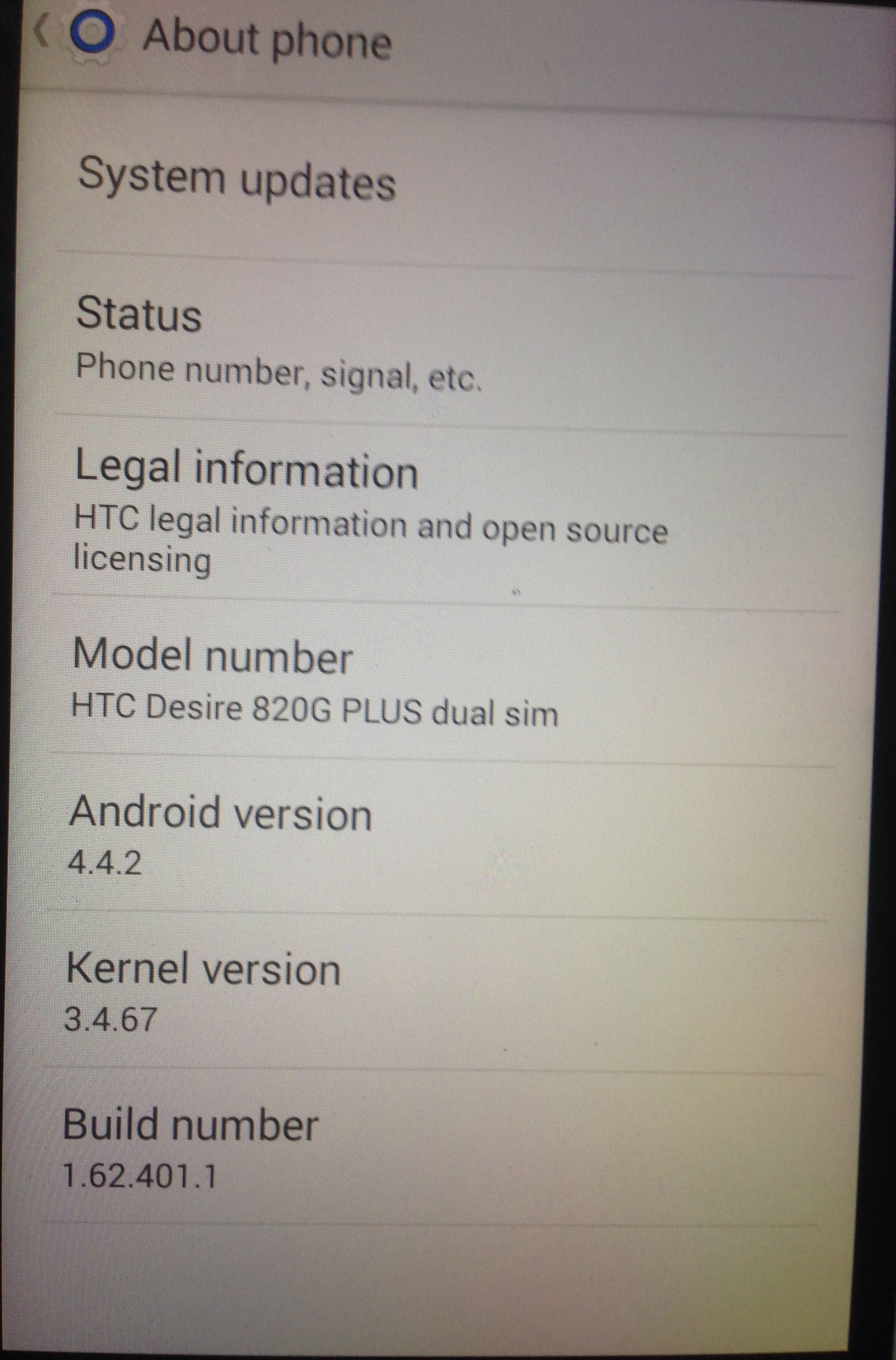 Image result for htc desire 820g firmware