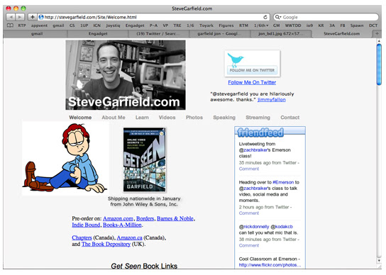 SteveGarfield.com minus Garfield #ESM @stevegarfield
