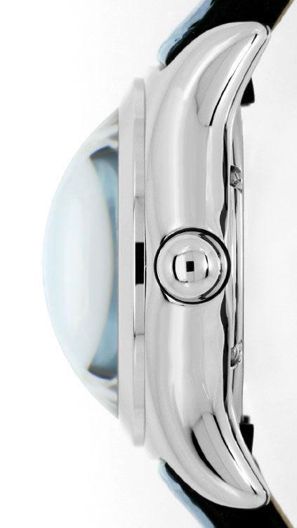 Foto 4, Corum Bubble Medium-Damenarmbanduhr Hellblau Ungetragen, U1465