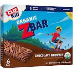 Clif Kid Organic ZBar, Chocolate Brownie - 6 bars, 1.27 oz each