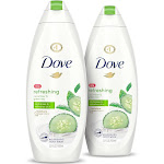 Dove go Fresh Cucumber & Green Tea Body Wash Twin Pack
