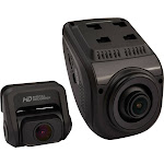 Rexing - V1P 3rd Generation Front and Rear Camera Dash Cam - Black