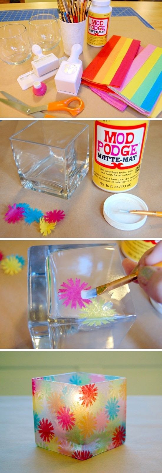 Awesome DIY painted candle holders