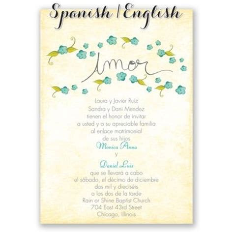pequenas flores spanish wedding invitation  print