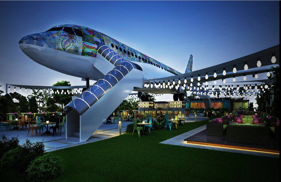 Hawai Adda airplane restaurant