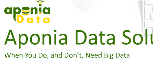 Big Data Center of Excellence Series, part 1 of 7 - Aponia Data