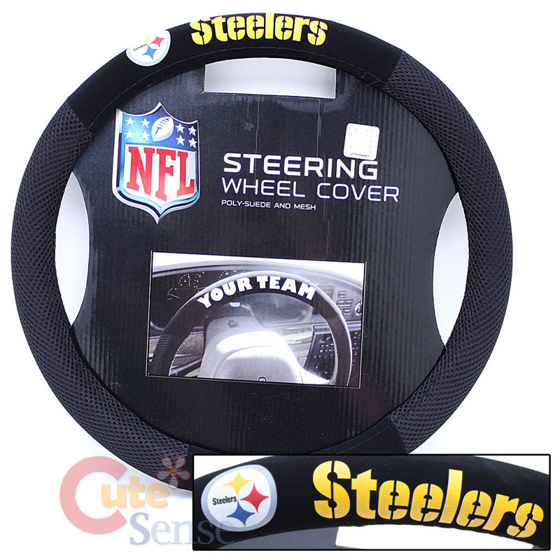 NFL Pittsburgh Steelers Steering Wheel Cover Auto Accessory Mesh Sports Grip  eBay