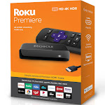 Roku Premiere HD/4K/HDR Streaming Media Player, Simple Remote and Premium HDMI Cable, Black