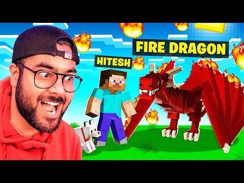 🔥 DRAGON PET in MINECRAFT 😎 | Hitesh KS