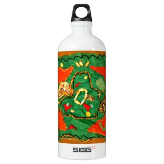 Cloth and Bead Design on SIGG Water Bottle 1.0 L SIGG Traveler 1.0L Water Bottle