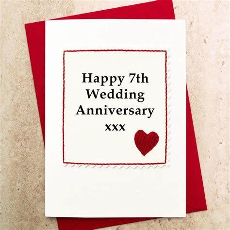 handmade 7th wedding anniversary card by jenny arnott