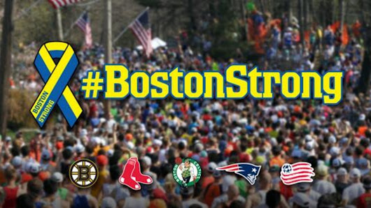 Every Boston sports team just shared this same #BostonStrong tweet
