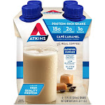 Atkins Dietary Supplement Shake - Caramel - 4ct