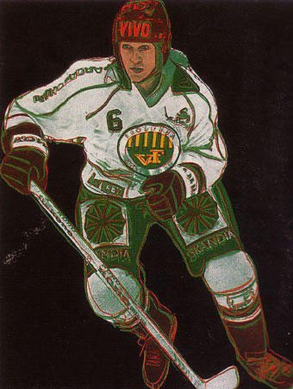 Warhol Frolunda Hockey Player