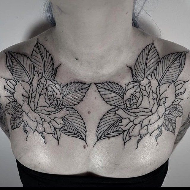 Roses Chest Tattoo By Thomas Cardiff Tattoomagz