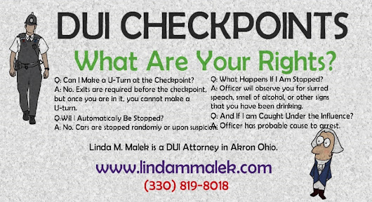 Ohio DUI Checkpoints – Your Rights  |  Akron Criminal Defense Attorney – Linda Malek