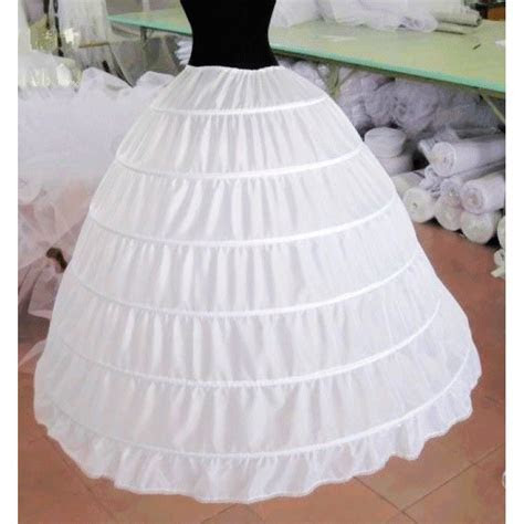 S2 full 6 hoop bone bridal wedding gown dress petticoat