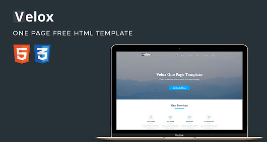 Velox - One Page Free HTML Template | Free Templates