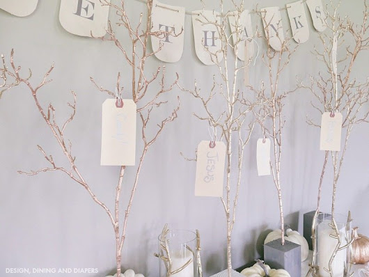 DIY Give Thanks Trees - Design, Dining + Diapers