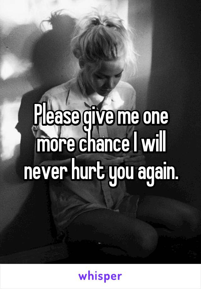 Please Give Me One More Chance I Will Never Hurt You Again