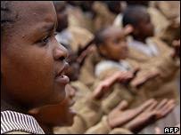 School children in Nairobi's Kibera slum