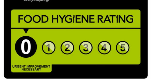 Food establishments in west London with a ZERO hygiene rating