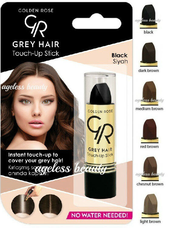 GRAY HAIR TOUCH UP COLOR STICK Grey, Roots Cover Black Red Light Brown MEN WOMEN  eBay