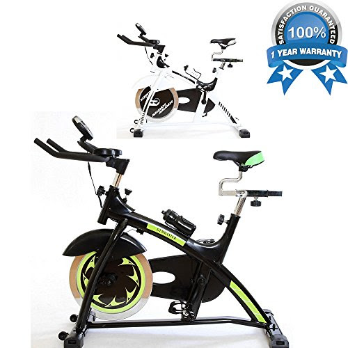 Semi Commercial Aerobic Fitness Bike Home Workout Gym Master Heavy Duty Exercise Machine 18kg Flywheel (Black)