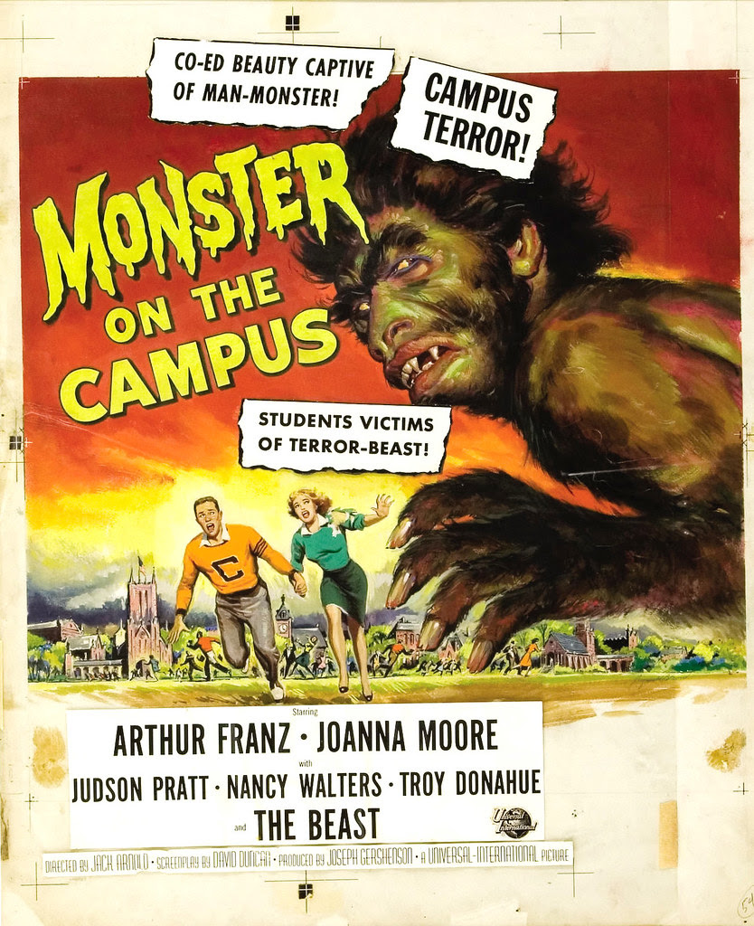 Reynold Brown - Monster on the Campus, original art, 1959
