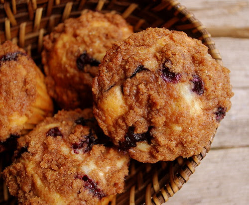To Die for Blueberry Muffins in basket
