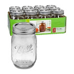 Ball Pint Regular Mouth Canning Jars - 12 Pack - 61000