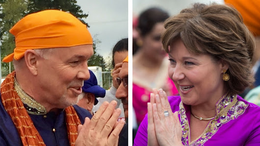B.C. political leaders canvass votes at Surrey Vaisakhi festivities