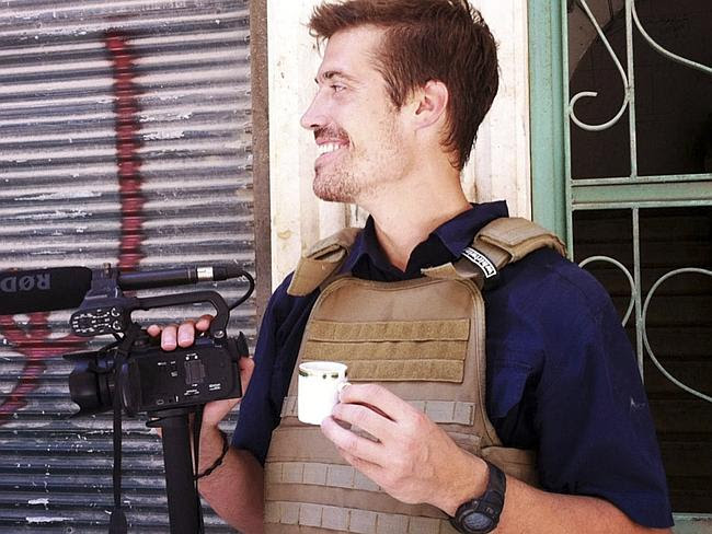 Brave journalist ... James Foley on assignment in Aleppo, Syria. Picture: Nicole Tung