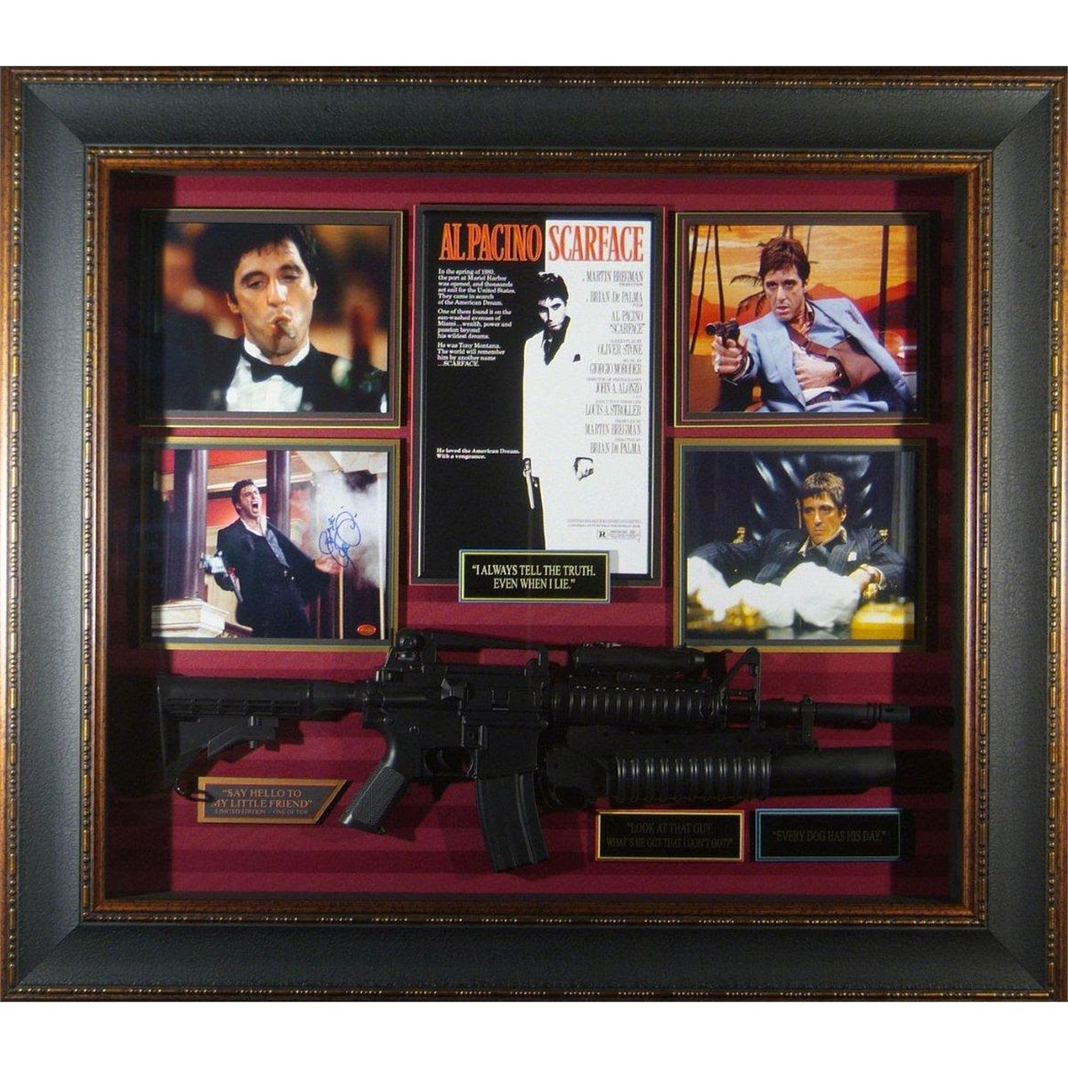 Entertainment Scarface Scarface Movie Collage Signed By Al Pacino