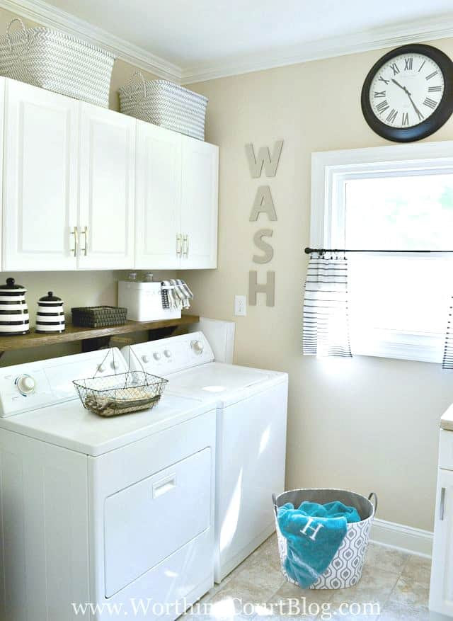 Remodeled laundry room tour