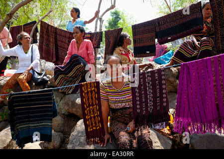 traditional woven clothing textiles  textile of the Philippines Stock Photo, Royalty Free Image