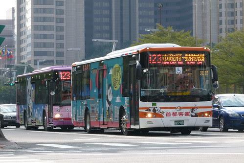台北公車123路貓熊專車(022-U5)