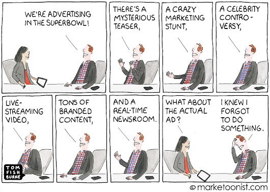 Super Bowl Advertising cartoon | Marketoonist | Tom Fishburne