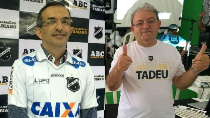Fabiano Teixeira e Judas Tadeu candidatos a presidente do ABC (Foto: Klênyo Galvão/GloboEsporte.com)