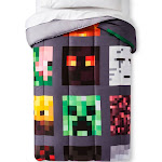 Minecraft Twin Good vs Evil Gray Comforter