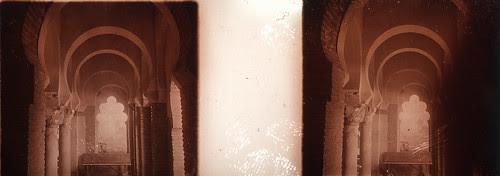 Fotografía estereoscópica de Toledo. Cristo de la luz