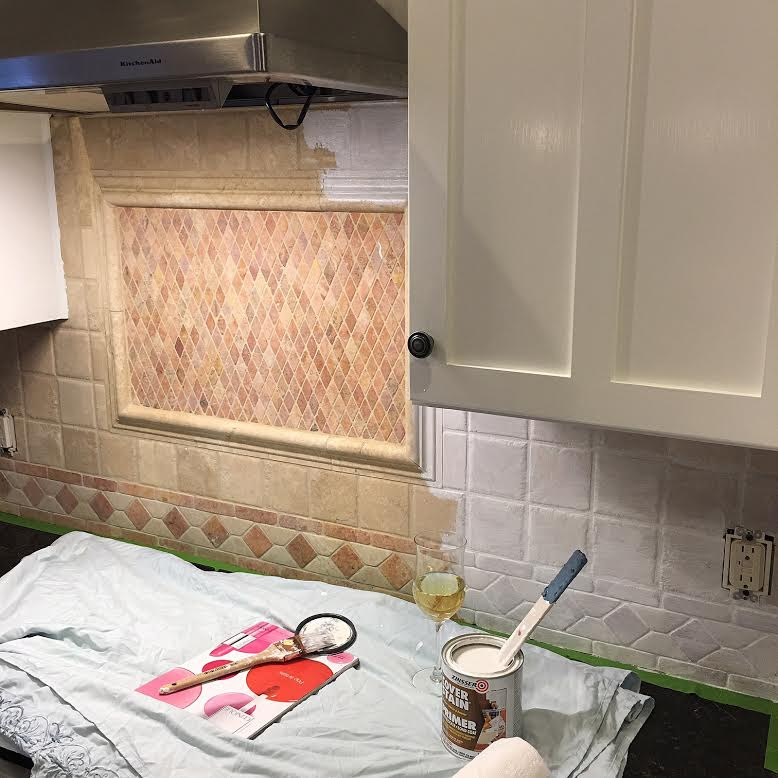 Follow these easy steps to paint your ugly back splash ...